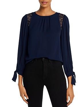 Rebecca Taylor La Chemise Silk & Lace Top