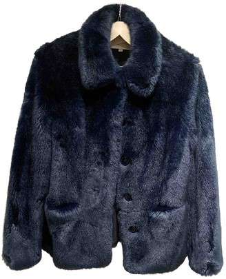 Reiss Blue Faux fur Jacket for Women