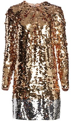 No.21 Long Sleeve Sequin Mini Dress