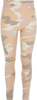 River Island Girls Beige camo RI fold over waist leggings