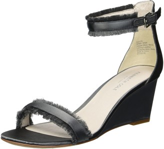 Kenneth Cole New York Women's Davis Wedge Sandal with Ankle Strap