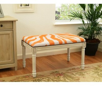 World Menagerie Niccolo Upholstered and Wood Bench World Menagerie Color: Smoky Gray