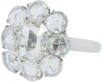 Bayco Cushion Rose Cut Diamond Ring