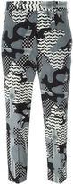 Neil Barrett camouflage print trousers - women - Silk/Spandex/Elastane/Cupro - 42
