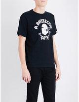 A Bathing Ape Mummy Logo-print Cotton-jersey T-shirt