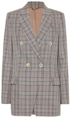 Brunello Cucinelli Checked wool and cotton blazer