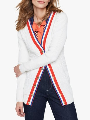 Damsel in a Dress Alinda Cable Knit Cardigan, Ivory