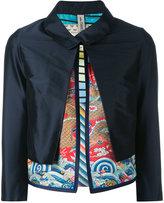 Herno layered cropped jacket - women - Silk/Polyamide/Polyester/Spandex/Elastane - 36