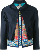 Herno layered cropped jacket