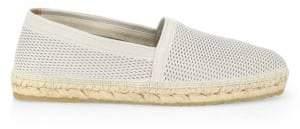 Giorgio Armani Perforated Leather Espadrilles