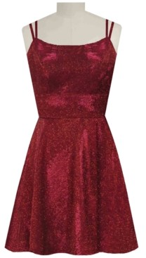 Morgan & Company Juniors' Metallic Fit & Flare Dress