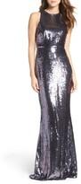 LuLu*s Women's Sequin Mermaid Gown