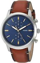 Fossil Men's '44mm Townsman' Quartz Stainless Steel and Leather Casual Watch