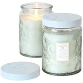 Voluspa Japonica Large Embossed Glass Jar Candle - French Cade & Lavender 100 hour