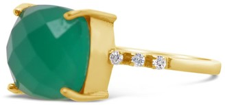 Gem Bazaar Jewellery Square Root In Green Onyx