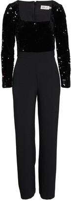 Brinker & Eliza Sequin Long Sleeve Jumpsuit