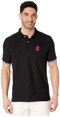 Psycho Bunny Cunard Polo (Black) Men's Clothing