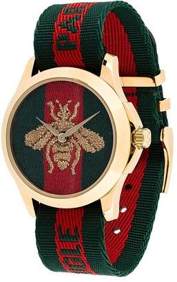 Gucci Bumblebee Fabric Strap Watch