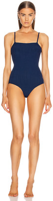 Hunza G Maria Swimsuit in Navy Nile | FWRD