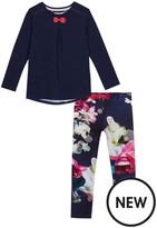 Ted Baker Girls' Navy Floral Print Pyjama Set