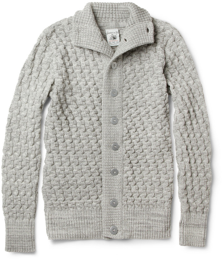 S.N.S. Herning Stark Chunky Waffle-Knit Wool Cardigan