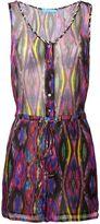 Matthew Williamson Sweetie Ragadang Rainbow Silk Playsuit