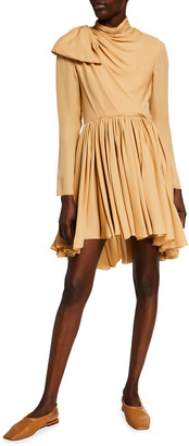 KHAITE Constance Silk Bow-Neck Dress