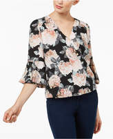 INC International Concepts Petite Surplice Bell-Sleeve Top, Created for Macy's