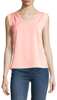 French Connection Polly Plains Cap Sleeve Top