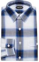 Tom Ford Men's Checkered Dress Shirt