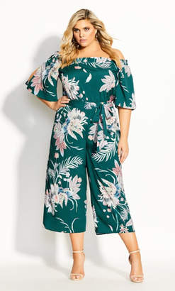 City Chic Amazon Lily Jumpsuit - sage