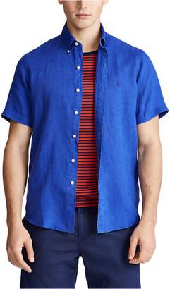 Polo Ralph Lauren Men Short-Sleeve Linen Button-Up