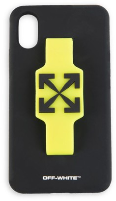 Off-White Neon Finger Strap Arrows iPhone XS Case