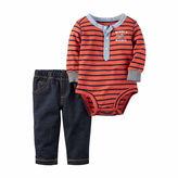 Carter's 2-pc. Red Bodysuit Pants Set - Baby Boys newborn-24m