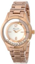 Kenneth Cole New York Women's KC4943 Transparency Dial Yellow Rose Gold Floating Stones Watch