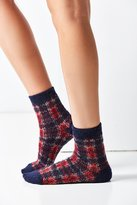 Out From Under Brushed Plaid Boot Sock