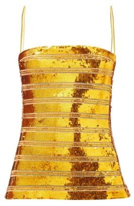 Galvan Stargaze Sequinned Top - Gold