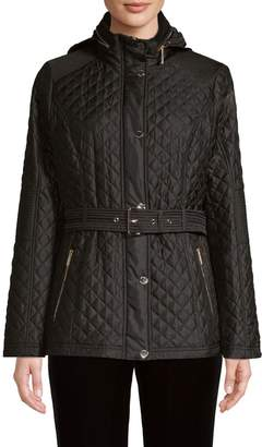 MICHAEL Michael Kors Belted Diamond Quilted Coat