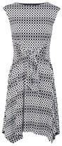 Dorothy Perkins Womens Izabel London Black Polka Dot Print Tea Dress, Black