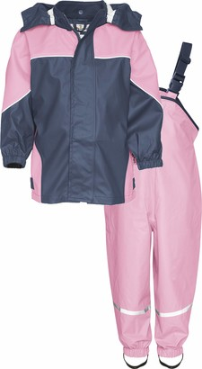 Playshoes Baby Girls' Regen-Set 2-Farbig Rain Jacket