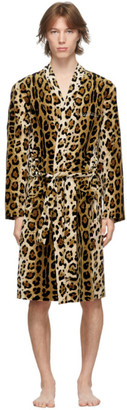 Wacko Maria Beige The Big Lebowski Leopard Robe