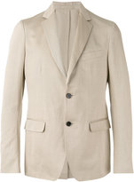 Salvatore Ferragamo classic blazer - men - Cotton/Linen/Flax/Cupro - 48