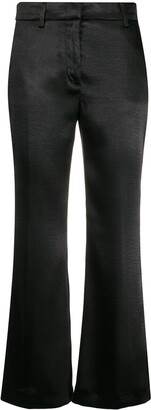 MSGM Satin Cropped Trousers