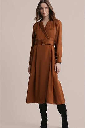 Witchery Contrast Stitch Shirt Dress