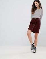 Daisy Street Corduroy Button Up Skirt