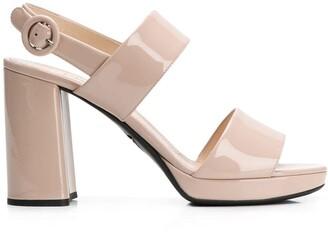 Prada open toe buckle sandals