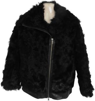 Muu Baa Muubaa Black Shearling Coat for Women