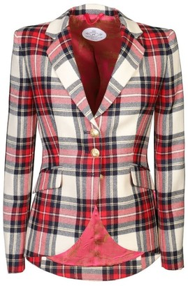The Extreme Collection Red Checkered Blazer Crista