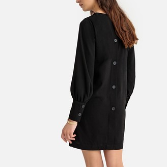La Redoute Collections Shift Dress with Buttoned Back