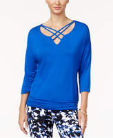Thalia Sodi Lattice-Trim Top, Created for Macy's